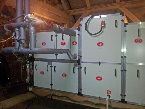 Centrala wentylacyjna VTS zamontowana na poddaszu(2)