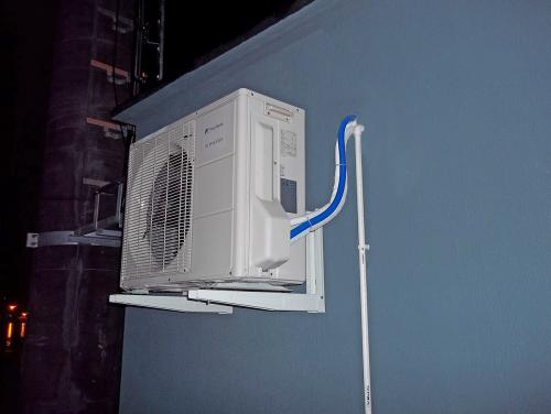 Klimatyzator agregat Fuji Electric RSG24 w obiekcie hydrotechnicznym
