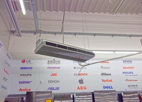 Klimatyzator podsufitowy uniwersalny Kaisiai montaż poprzez podwieszenie na szpilkach