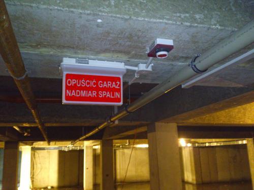 Wentylacja garażu podziemnego sygnalizacja nadmiaru spalin